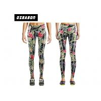 Quality Girl's Polyester Yoga Pants Fitness Running Tights Color Combination Digital Printed for sale