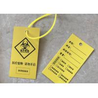 Quality Benchtop Biohazard Yellow Plastic Bag LDPE Material Anti Puncture Heat Resisting for sale