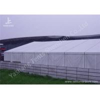 Quality Anodized Aluminum Alloy Frame Clear Span Structures with UV Repellent Fabric Cover for sale