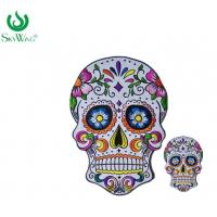 Quality Commercial Personalised Embroidered Badges / Sugar Skull Back Patch for sale