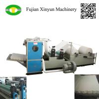 Buy cheap Automatic box drawing V fold facial tissue paper making machine from wholesalers