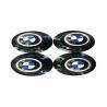 Buy cheap High Performance Auto Exterior Accessories , Blue Metal Emblem Rim Center Caps from wholesalers