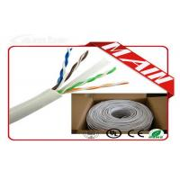 Quality CCTV System White Ethernet Cable , 24 AWG Bare Copper Cat6 Ethernet Cable 1000 Ft for sale