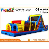 China Sports Challenge Outdoor Inflatable Obstacle Course For Adults CE UL SGS on sale