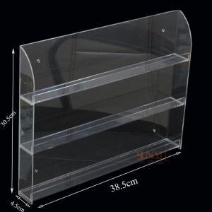 Quality Three Tier Clear Acrylic Nail Polish Display , Nail Polish Storage Shelf385×305×45 mm for sale