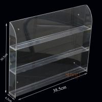 Quality Three Tier Clear Acrylic Nail Polish Display , Nail Polish Storage Shelf 385×305×45 mm for sale