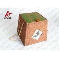 Quality Bamboo Made Double Faced Foldable Paper Box For Food Products 24 X 24 X 8cm for sale