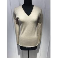 Quality Custom Black / Yellow / Grey Pullover Sweater , Womens Navy Cashmere V Neck Sweater for sale