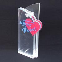 Quality Custom Engraved Corporate Gift Acrylic Award Trophy With Silk Printing Logo for sale