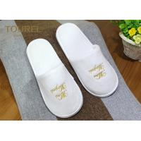 Quality One Size Fits Most Coral Fleece Disposable Hotel Slippers with Various Logo Choices for sale
