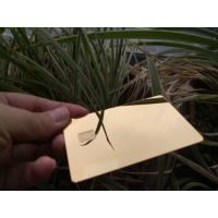 Buy Metal Mirror Business Cards , Stainless Steel Gold Silver Business Member Cards at wholesale prices