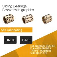 Graphite Plugged Brass Bushings , Inch Sizes Continuous Casting Machined Precision Parts