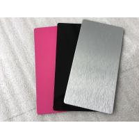 Quality Pink / Black Exterior Insulated Wall Cladding Panels High Intensity 5mm Thickness for sale