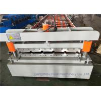 Quality Colour Steel Roofing Sheet Roll Forming Machine With Hydralic Type Asia PLC Control for sale