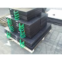 Quality high loading capacity uhmw polyethylene crane foot support plate black color for sale