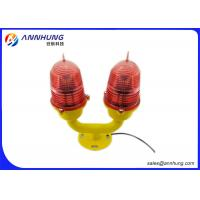 Quality Double LED Aviation Obstruction Light ICAO Anne X 14 UV - Stabilized for sale