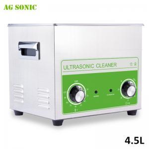 Quality 4L 180W Laboratory Ultrasonic Cleaner , Acid - Proof Mini Ultrasonic Cleaner for sale