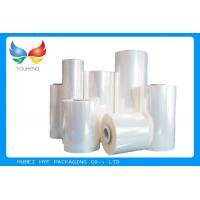 Buy 40 MIC Clear Blown PVC Heat Shrink Film Rolls For Thermo shrinking / Sleeve / Labels at wholesale prices