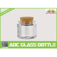 Quality High quality small clear glass jar cork for sale