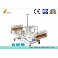 Quality 3 Position Hand Operated Medical Hospital Beds with Stainless Steel Guardrail (ALS-M319) for sale