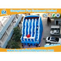 Quality 0.55mm PVC Tarpaulin Commercial Inflatable Slide , Large Inflatable Water Slide for sale