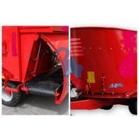 Quality Red Color Animal Feed Mill Mixer Feeder Wagons For Sheep Stations Standard Type for sale