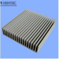 Clear Anodized aluminum heatsink extrusion profiles Painted , Sliver matt