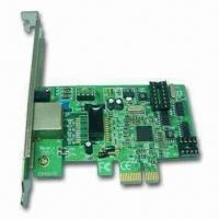 China PCI-E 10/100/1000M LAN Card with Gigabit PCI-E Network Adapter and 9K Bytes Jumbo Frame Support on sale