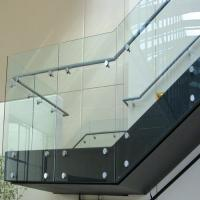 Buy cheap Frameless Standoff widely used glass railing for decking/balcony/staircase from wholesalers