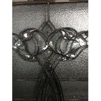 Quality Black chrome came decorative leaded glass for sale
