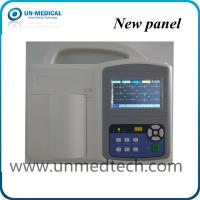 China UN-medical three channels ECG machine with touch screen, human/veterinary available on sale