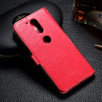 Quality Customized Moto G4 Plus Leather Case , Crazy Horse PU Motorola Flip Cover for sale