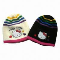 Buy cheap Children's Winter Hat, Made of Acrylic, Plain Style from wholesalers