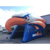 Quality 30ft oxford promotional red eagle customized football helmet inflatable entrance tunnel for sale