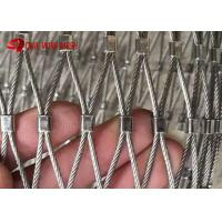 China Ferruled Type Flexible Stainless Steel Wire Rope Bird Aviary Mesh For Zoo on sale