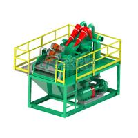 China Hydrocyclone 45KW Mud Tank System , Compact Size Drilling Mud Disposal on sale