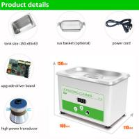 Quality 800ml Ultrasonic Cleaner Jewelry Glasses Tattoo Dental Home Health Care for sale