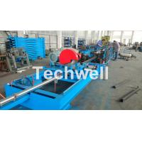 Quality Step Beam Rack Roll Forming Machine With Welding Line , Servo Flying Saw Cutting Device for sale