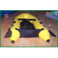Quality Heat Sealed Yellow PVC Inflatable Boats Lightweight Inflatable Boat for sale
