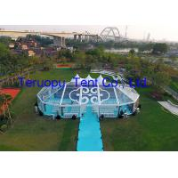 China Commercial Glass Marquee Tent For Trade Show Event With Floor No Pole Inside for sale