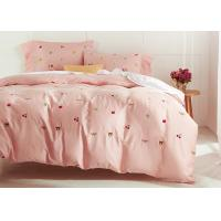 Quality Cute Embroidered Modern Duvet Covers / Shams 4 Pcs 100% Cotton For Home for sale