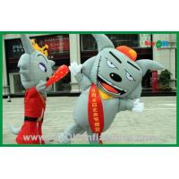 Quality Moving Inflatable Gray Wolf Inflatable Cartoon Characters For Advertising for sale