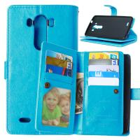 Quality LG G2 G3 G4 Stylus G4S G5 Wallet Case Retro Leather Cover Bags Pouch 9 Cards Slot Holder for sale
