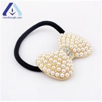 Quality Pearl Diamond Bowknot Hair Band Hair Rope Accessory BFQ029 for sale