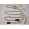 1.5CM Beige Color Stretch Webbing Belt , Ladies Webbing Belt 65 - 80cm Length for sale