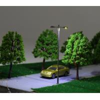Steel Model Street Lights Twin arms With 3V LED scale ranges from 1:75-1:200