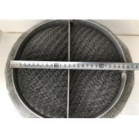 China SS 304 / 316 Wire Mesh Demister Pad For Gas Liquid Separation Air Purification on sale