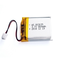 Quality 800mAh 3.7 V Lithium Polymer Battery Within 1C Rate for sale