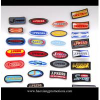 Quality Manufacturer OEM custom design 3D embossed PVC rubber patch,silicone rubber garment badge for sale