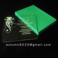 Buy beautiful acrylic invitation at wholesale prices